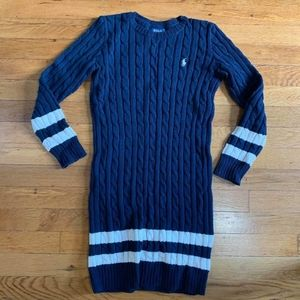 Polo Ralph Lauren cable sweater dress, girls sizeM